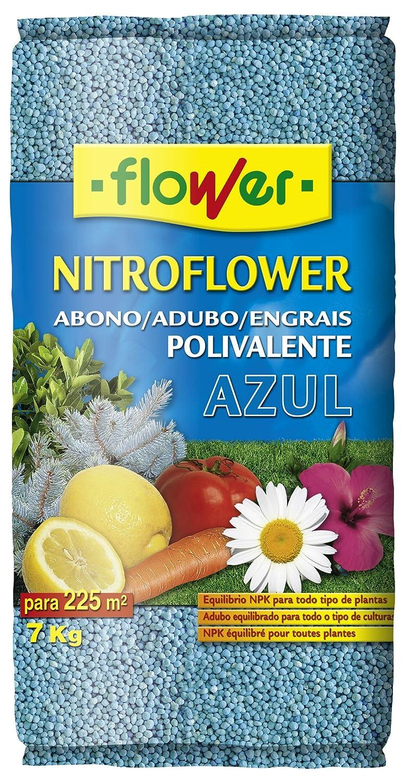 Flower 10598 10598-Abono polivalente, 7 kg, Color Azul, No Aplica, 26.5x9x41.5 cm: Amazon.es: Jardín