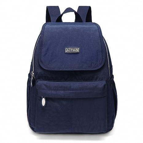 3155d1d7af542 AOTIAN Kleine Rucksack Für Mädchen Und Damen Leichtgewicht Lässiger  Tagesrucksack Schultaschen 10 Liter Blau