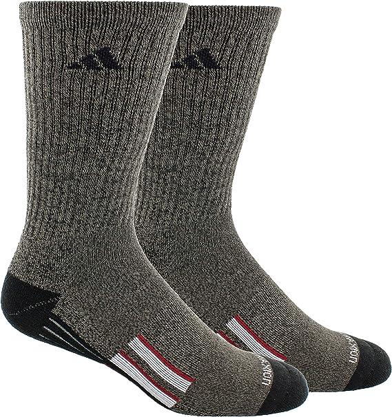 Adidas Mens 3-Pack Crew Socks 6-12 Black//Onix//White