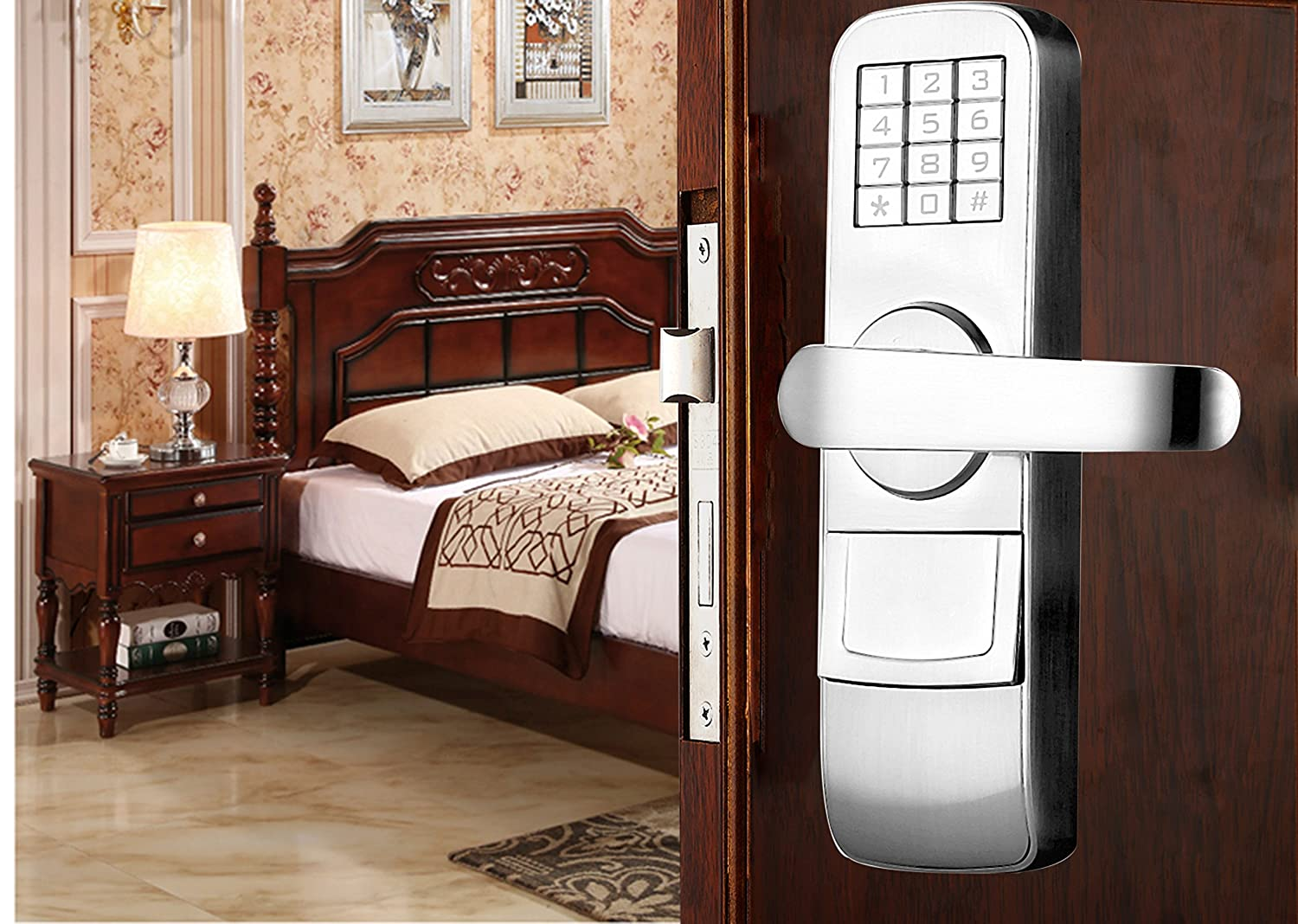 Left Hand Swing Doors PS4006L Fully Programmable Electronic Mortise Style Door Lock with Keypad