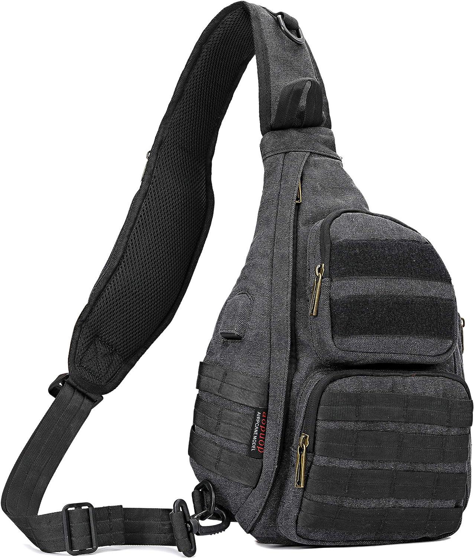 Canvas Sling Bag Chest Shoulder Backpack Crossbody Bag
