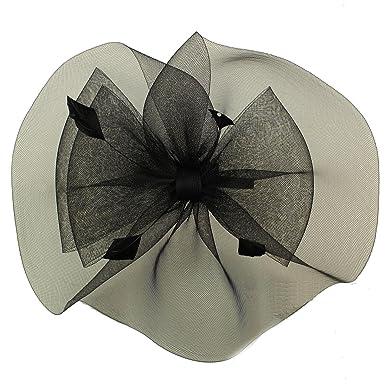 Something Special Graceful Side Mesh Veil Fascinators Headband millinery  Cocktail Derby Hat Black 4c4f4f12282