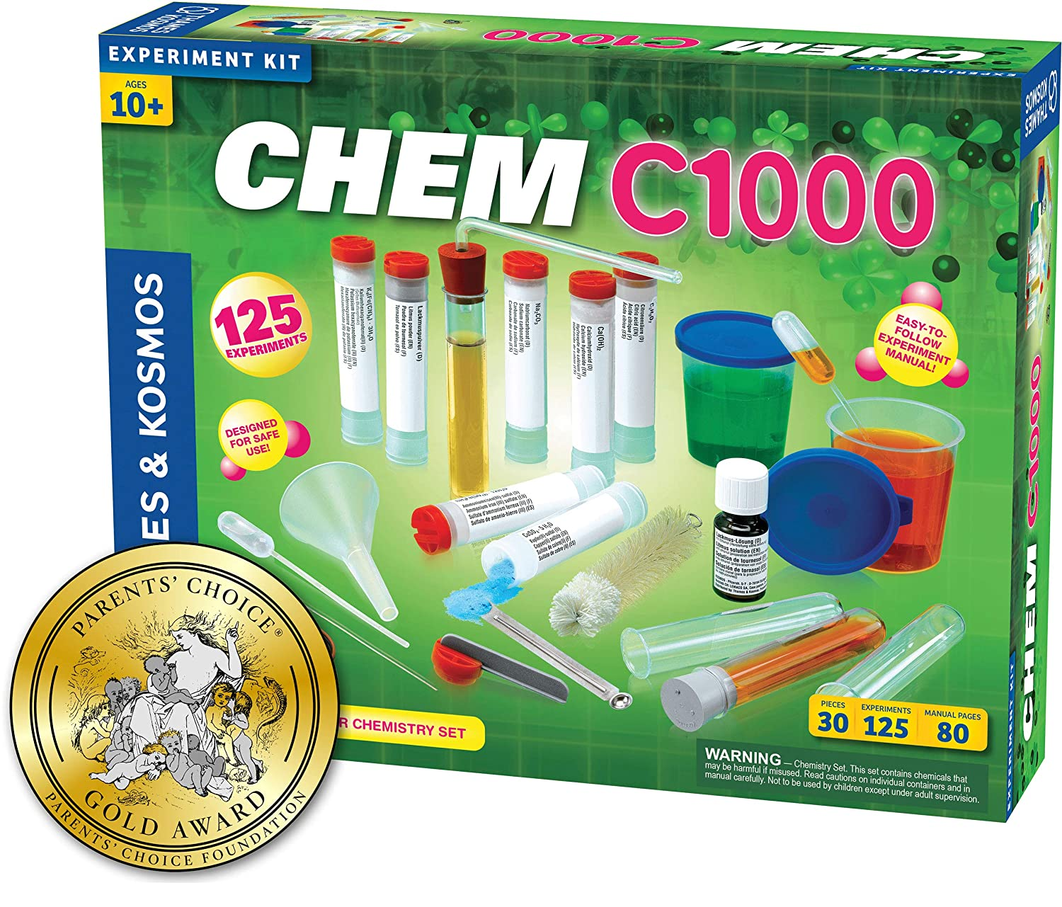 Thames & Kosmos Chem C1000 (V 2.0) Chemistry Set with 125 Experiments & 80 Page Lab Manual