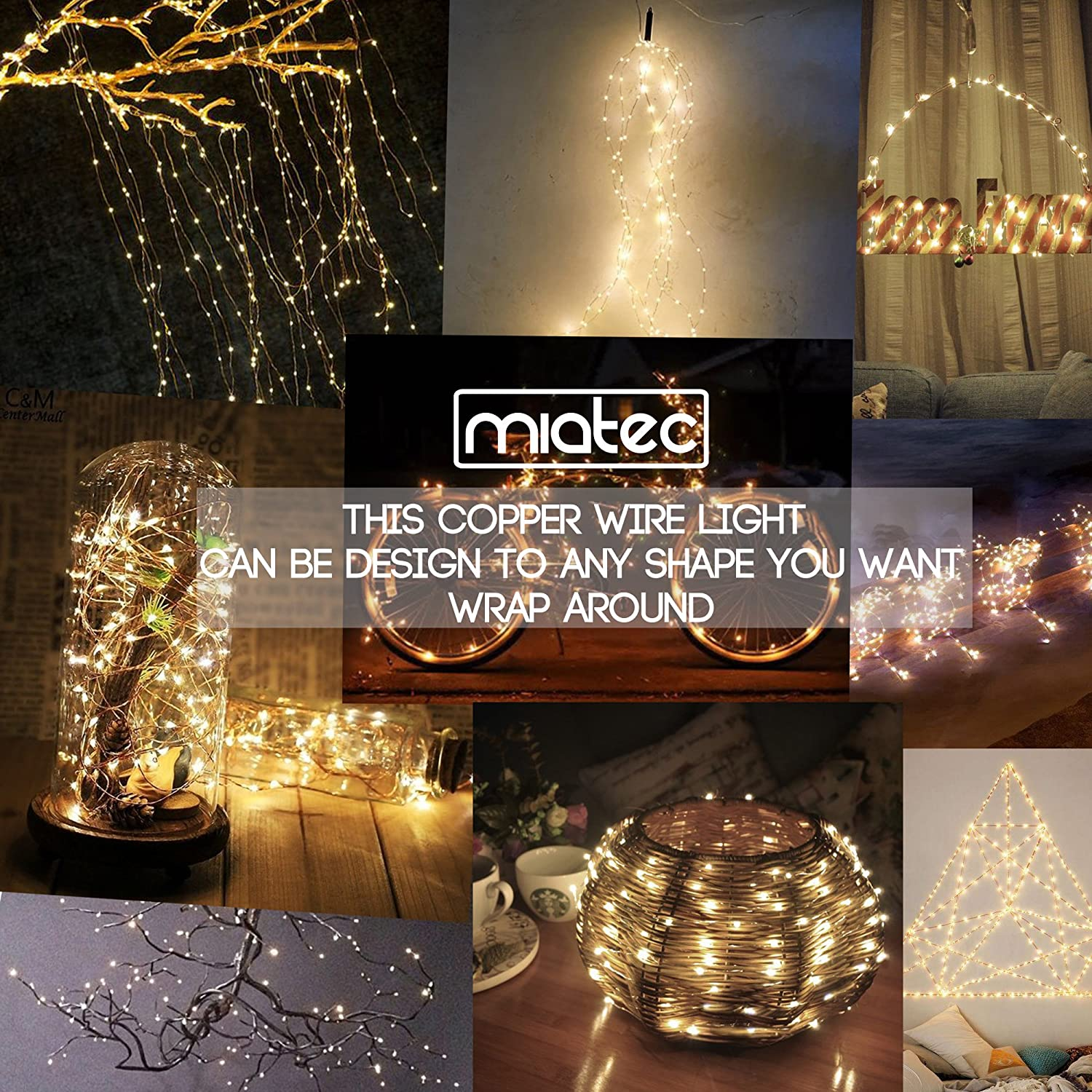 Amazon Solar String Lights Miatec 100 LEDs Starry String