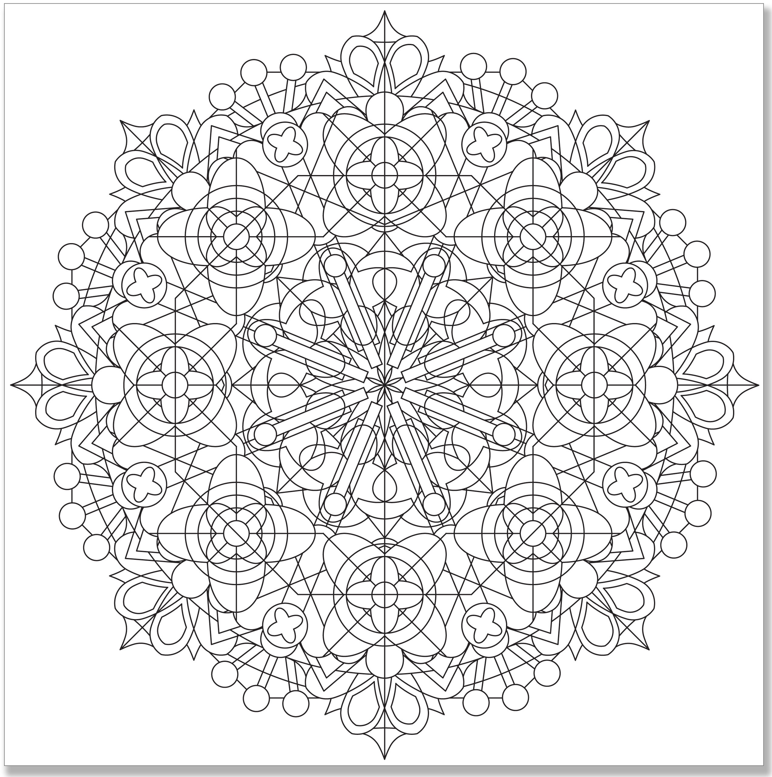 Free coloring pages kaleidoscope designs