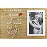 Flytreal 4x6 Wood Picture Photo Frames Engagement Wedding Anniversary Romantic Birthday Gift for Couples Girlfriend…