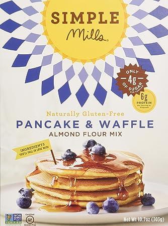 Simple Mills Almond Flour Mix Variety Pack:, (1) Pancake & Waffle, (1)  Pizza Dough, (1) Vanilla Cupcake