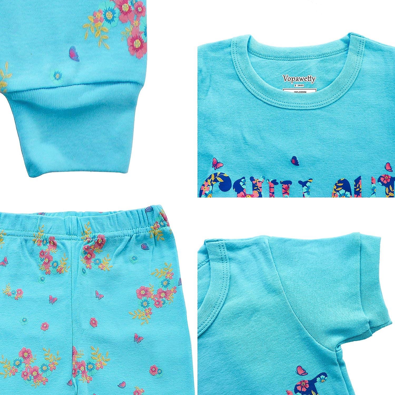 Girls 6-Piece Snug-Fit Cotton Pajama Set Sleepwear