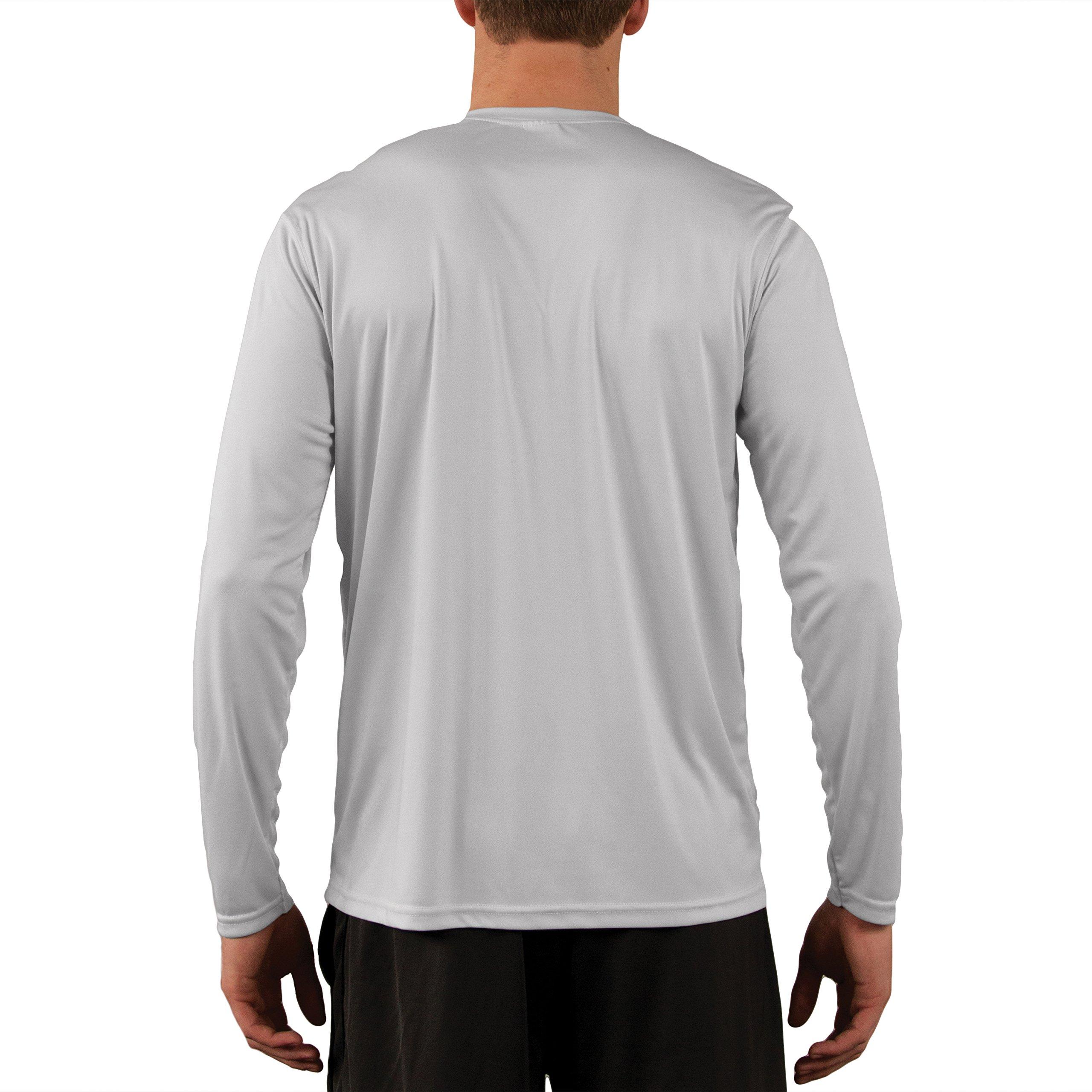 Vapor Apparel Men's UPF 50+ UV Sun Protection Performance Long Sleeve T-Shirt X-Large Pearl Grey by Vapor Apparel (Image #2)