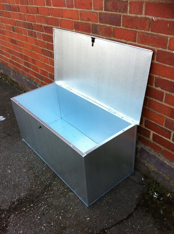Steel Storage Box : Galvanised storage bins ppi