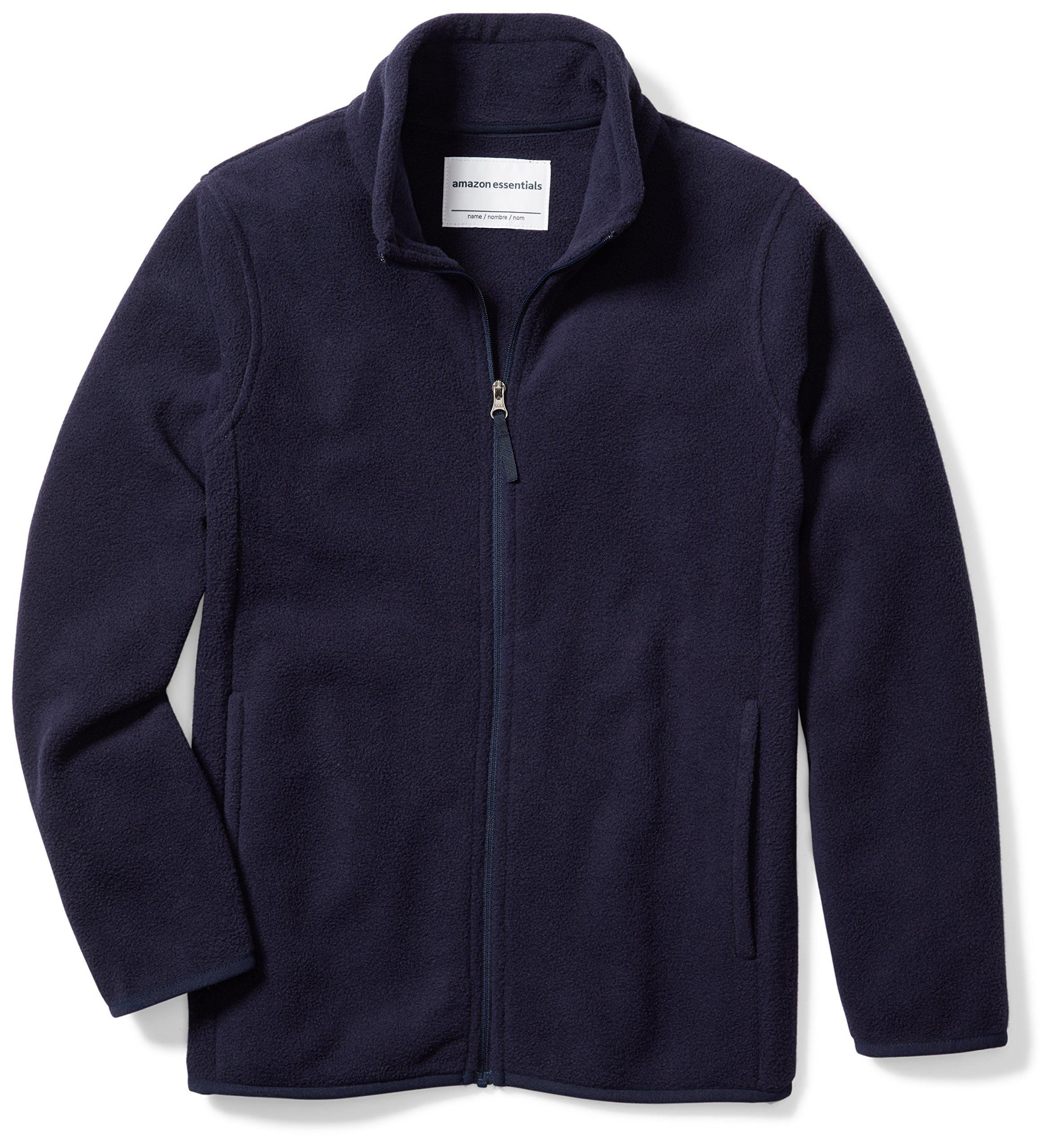 Amazon Essentials Boys' Full-Zip Polar Fleece Jacket, Night Navy, Medium by Amazon Essentials