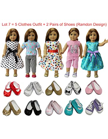 99855c8be52f ZITA ELEMENT American 18 inch Girl Doll Outfits Lot 7   5 Daily Costumes  Clothes +