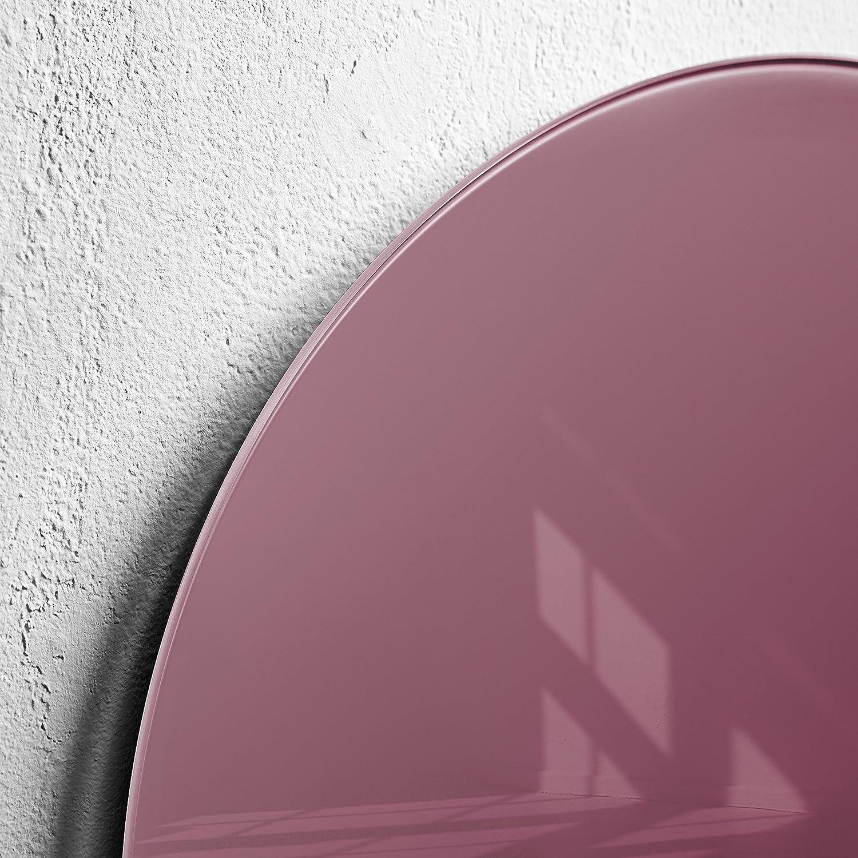 /Ø 40 cm SIGEL GL292 Lavagna magnetica di vetro//bacheca di vetro Artverum Smoky-Red