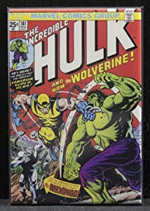 The Incredible Hulk #181 Comic Book Cover Refrigerator Magnet.