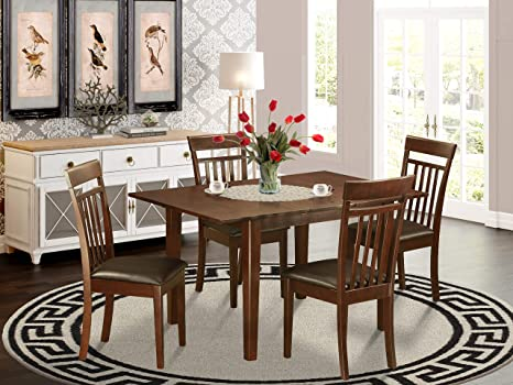 Amazon Com 5 Pc Small Kitchen Table Set Dinette With 4 Dining Chairs Furniture Decor