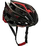 AWE AWESpeed SOSTITUZIONE DI CRASH GRATIS 5 ANNI * Nello stampo di ciclismo su strada uomini adulti Casco Carbonio nero rosso 56-58cm