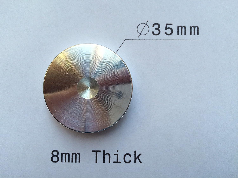 /Lote de ocho grandes discos protectores para puntas de desacoplo Solid Spikes/