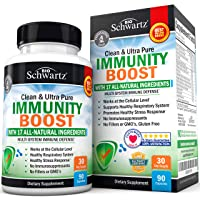 Immunity Boost Supplement with Elderberry, Vitamin A, Echinacea & Zinc - Once Daily...