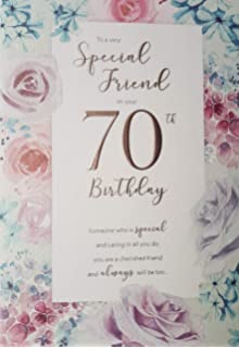 Special Friend On Your 70th Birthday Card