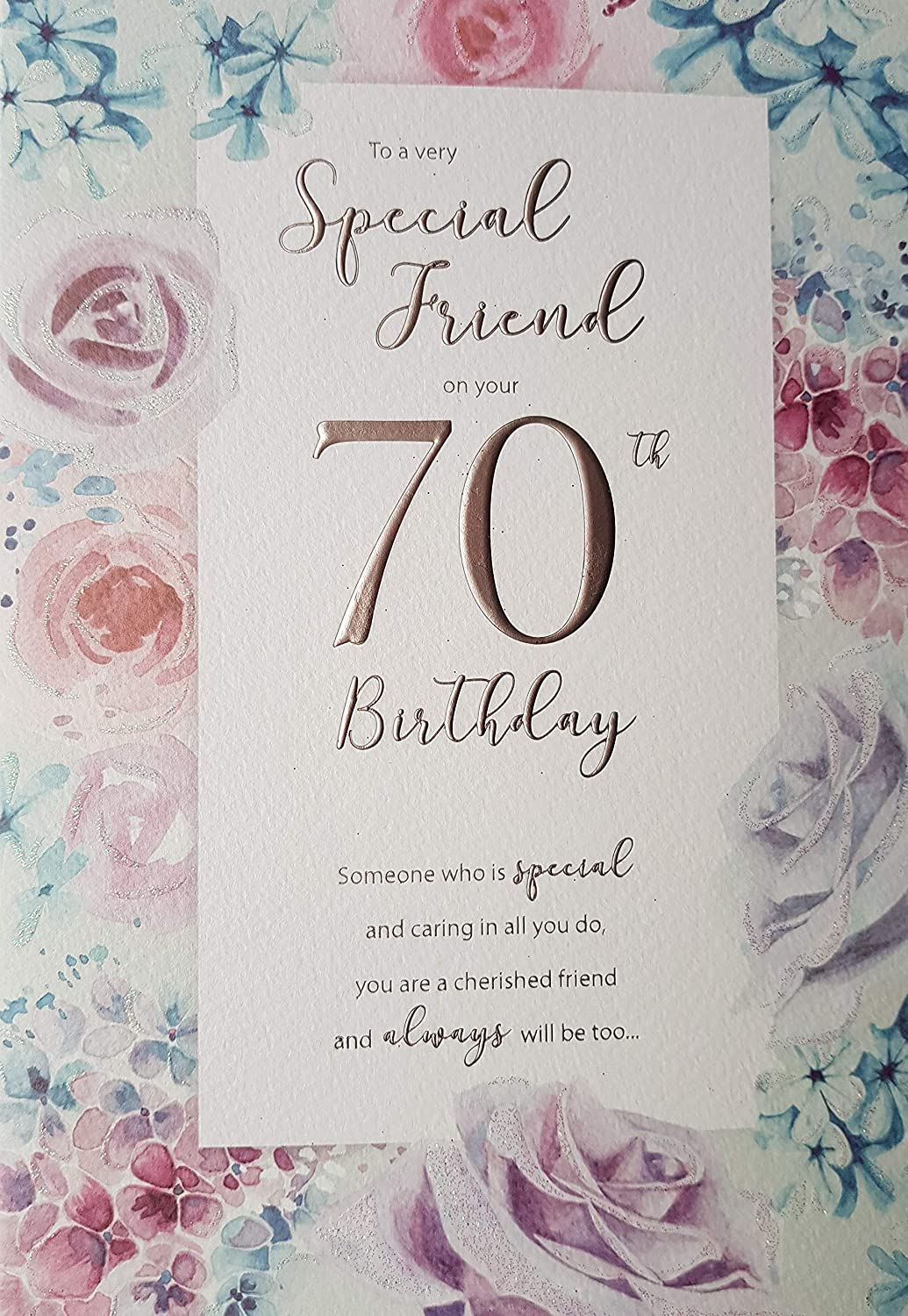 Special Friend On Your 70th Birthday Card Amazoncouk Kitchen Home