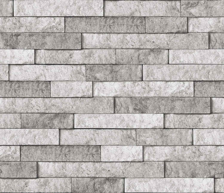 - Brewster BHF3049 Grey Stone Peel & Stick Backsplash Tiles, Gray