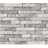 Brewster BHF3049 Grey Stone Peel & Stick Backsplash Tiles, Gray