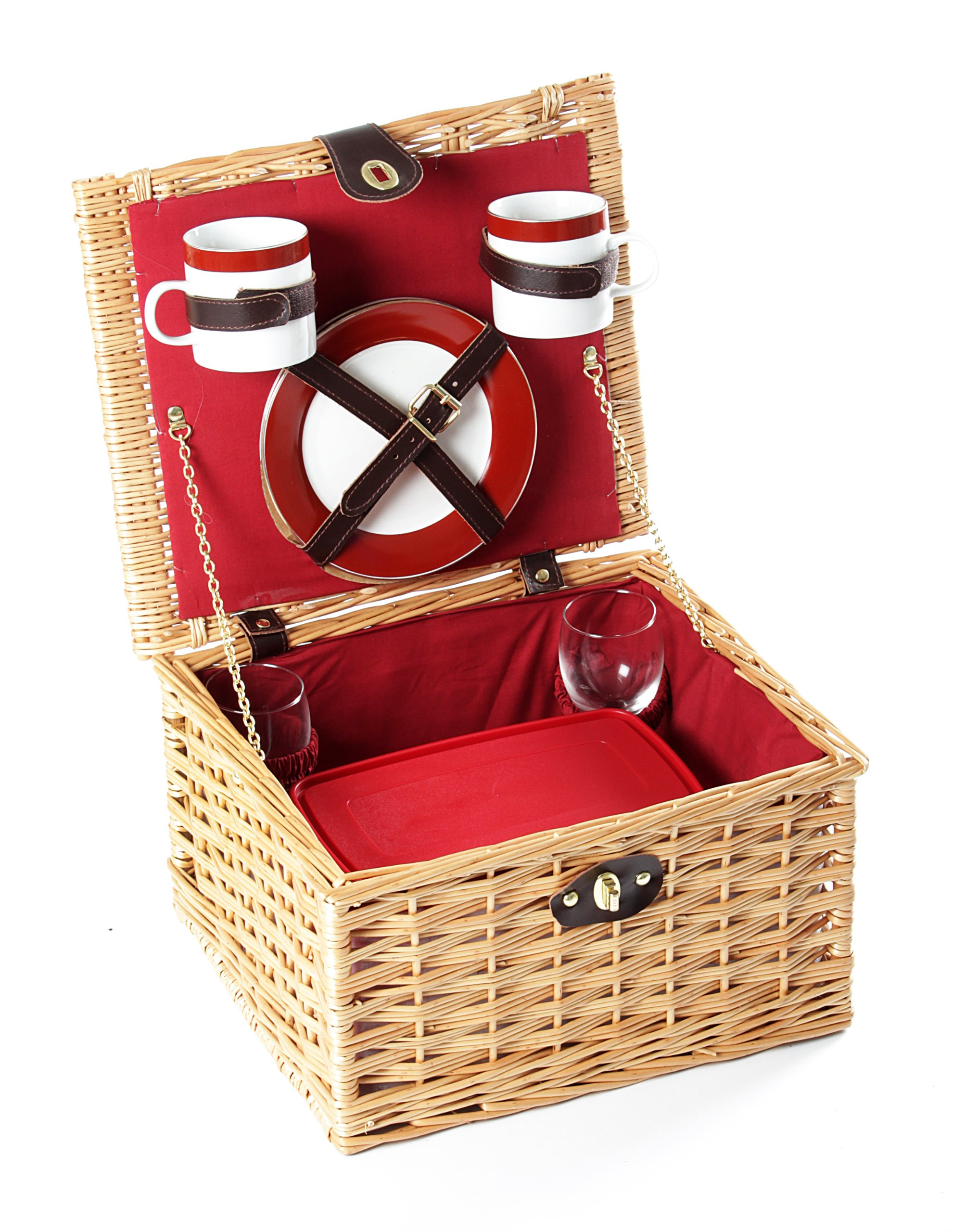 Greenfield Collection Dorchester Willow Picnic Hamper for Two People