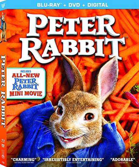 Peter Rabbit Blu-ray DVD ONLY.