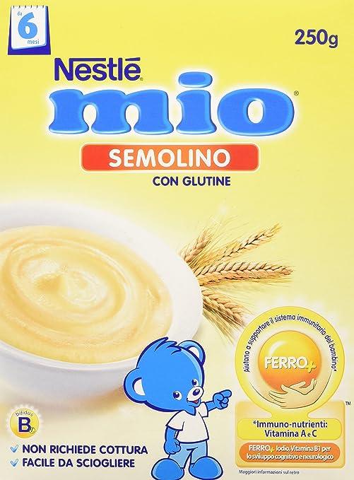 5 opinioni per Nestlé Mio- Semolino, da 6 Mesi- 3 confezioni da 250 g [750 g]