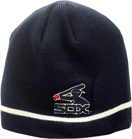 online retailer 57b89 fd189 ... shop chicago white sox skull knit hat raised batterman logo 004851  58451 3073a