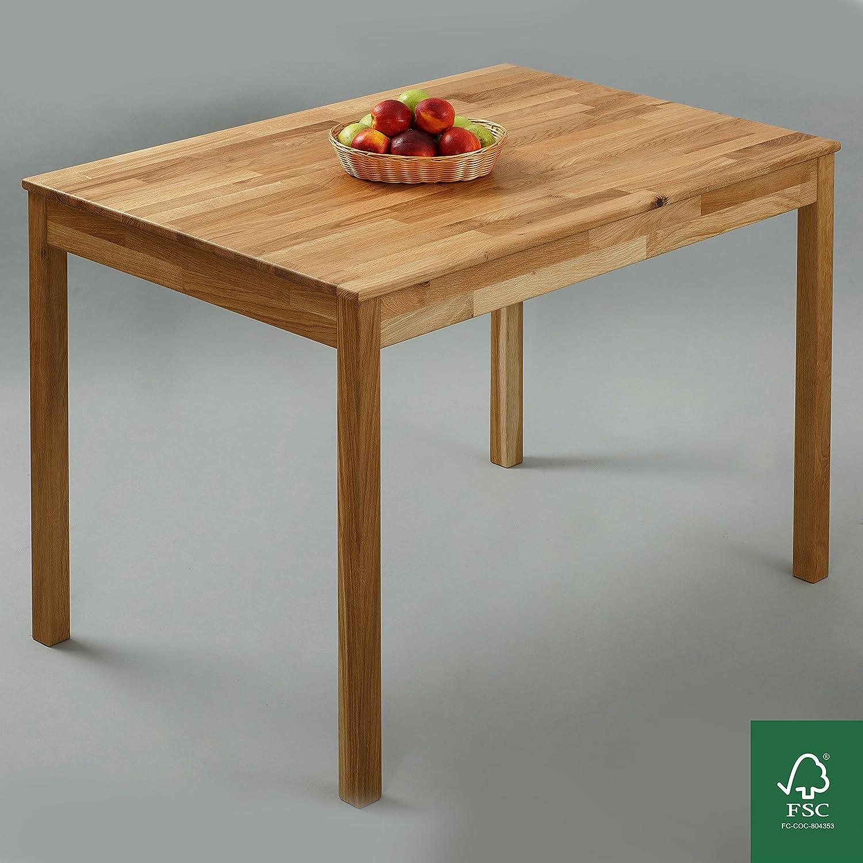 Table à manger Chêne 100% FSC Tomas 110x75x75 cm