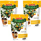 Jobe's Organics Fruit & Citrus Tree Fertilizer Spikes, 3-5-5 Time Release Fertilizer for All Container or Indoor Fruit…
