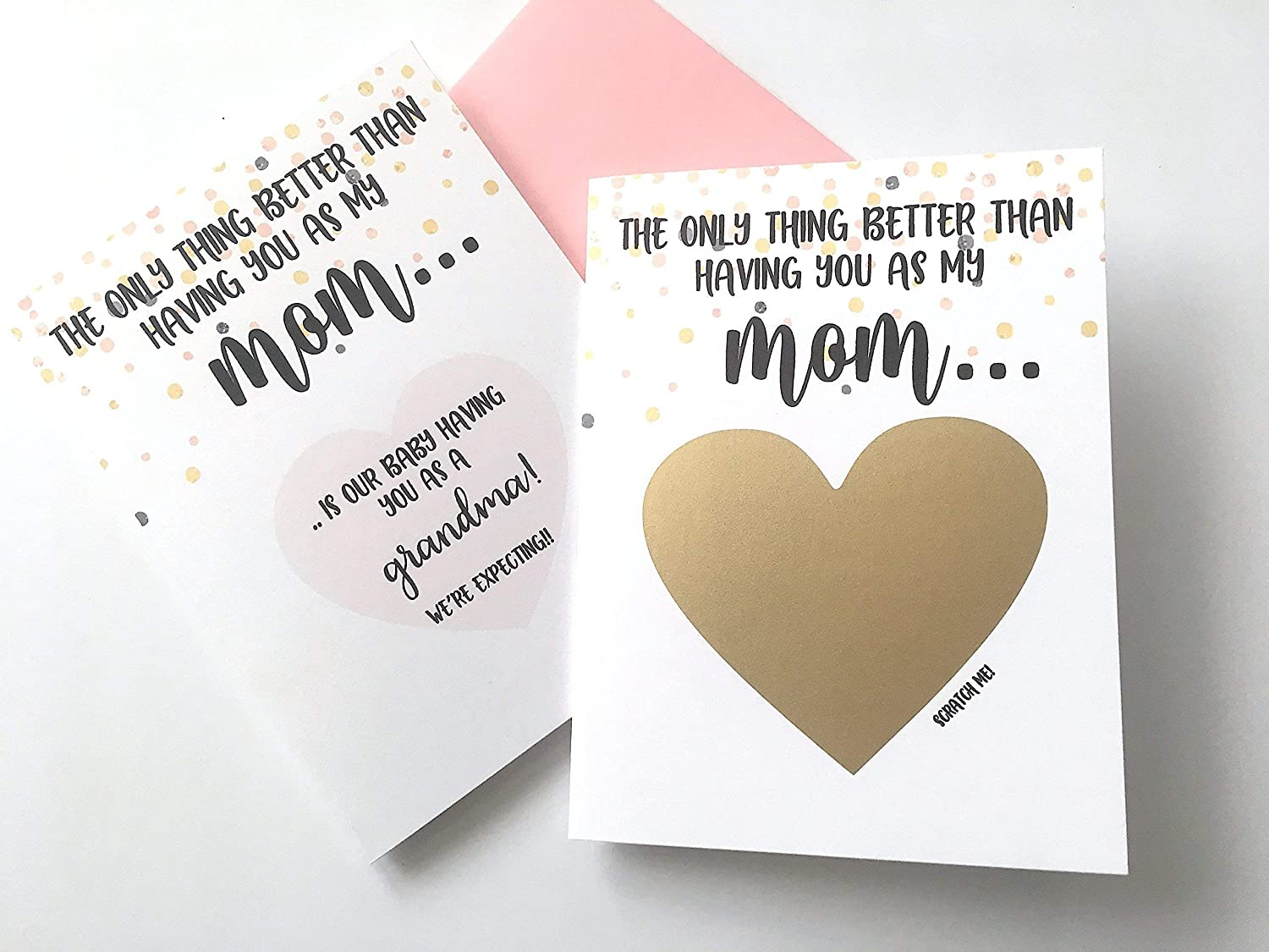 grandma card youre going to be a grandma grandma to be Scratch Off Im pregnant pregnancy reveal