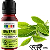 Organix Mantra Tea Tree Essential Oil for Skin, Hair, Face, Acne Care, 100% Pure, Natural and Undiluted Therapeutic Grade Essential Oil
