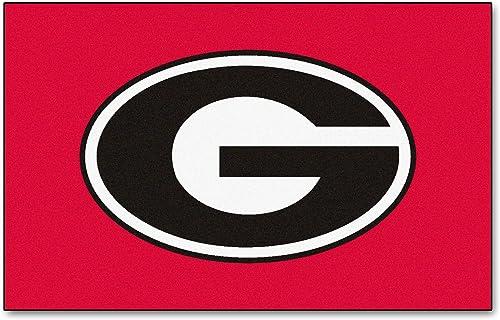 FANMATS NCAA University of Georgia Bulldogs Nylon Face Ultimat Rug