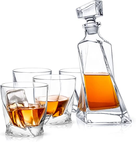 Jackky Hand Glass, 100/% Upgrade Great Decanter 8 Inch