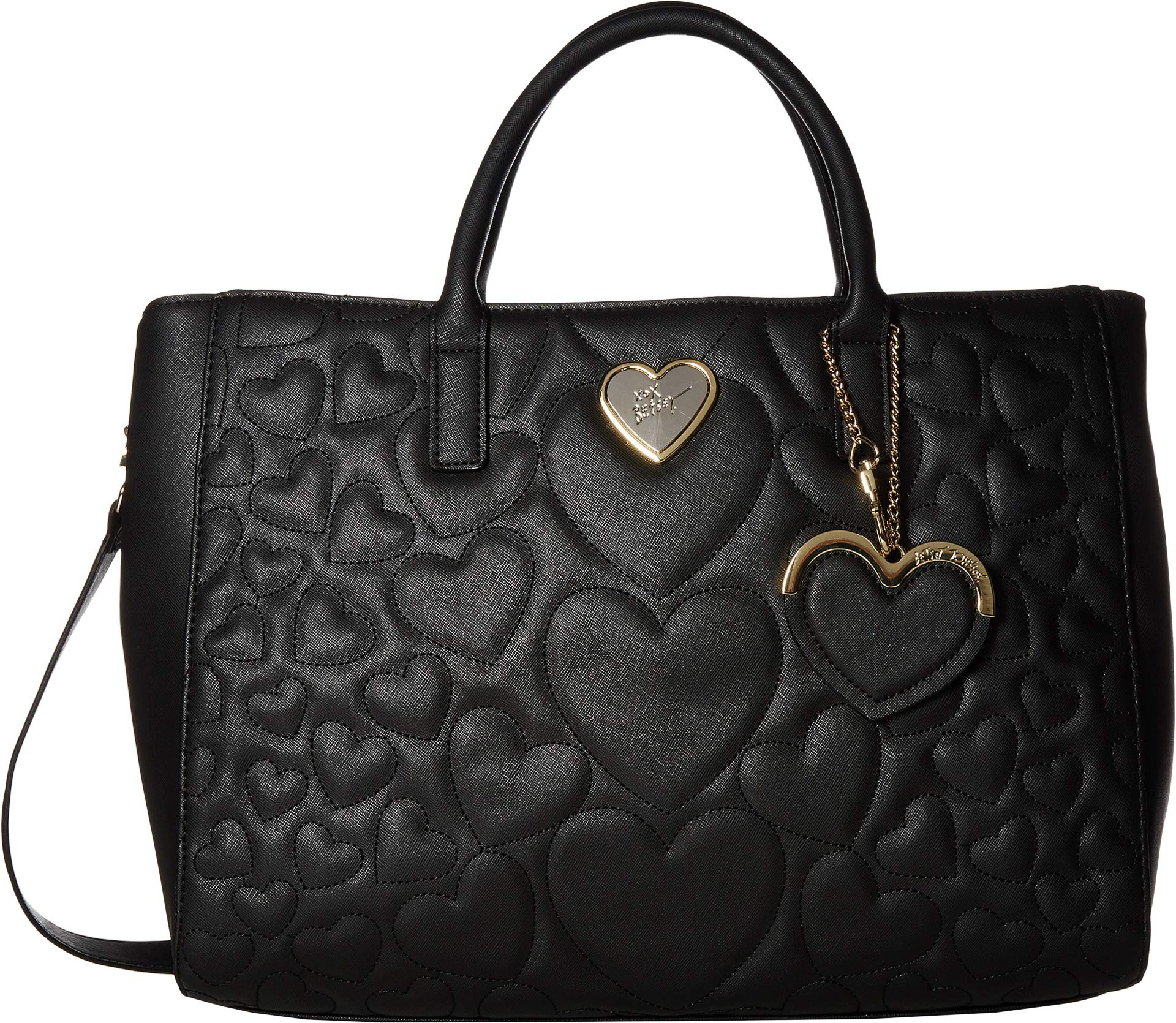 Betsey Johnson Women's Structured Quilt Satchel Black One Size by Betsey Johnson (Image #1)
