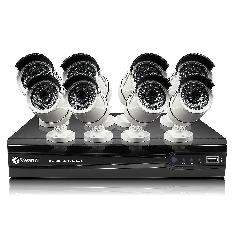 Swann swnvk-873008 NVR8 - 7300 8 canal red grabadora de vídeo y 8 x nhd-815 3 MP cámaras (blanco): Amazon.es: Electrónica
