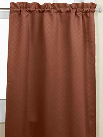Curtains Ideas 36 inch tier curtains : Amazon.com: Lorraine Home Fashions Facets Room Darkening Blackout ...