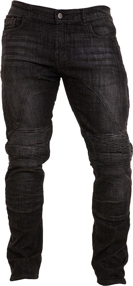 Qaswa Hombre Motocicleta Pantalones Moto Jeans con Protección ...