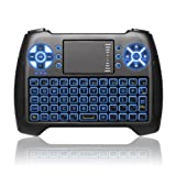ANEWKODI T16 Backlit Wireless Touchpad Mini Keyboard Gaming Controller 2.4GHz Wireless Mini Keyboard for Smart TV, PC, PAD, Google Android TV Box, HTPC, IPTV, XBOX, Support Windows 10