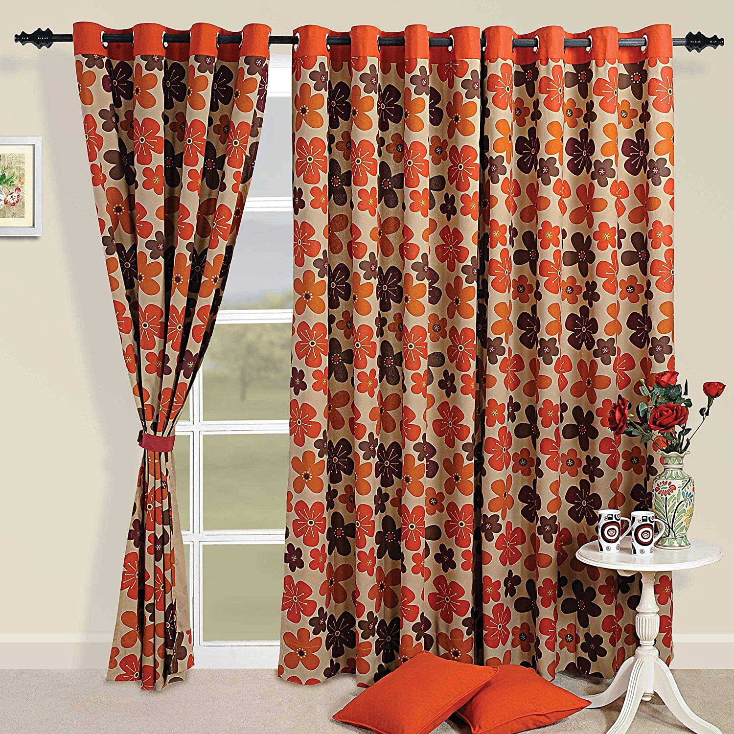 better ip ikat gardens homes curtain curtains walmart com orange panel diamonds panels and