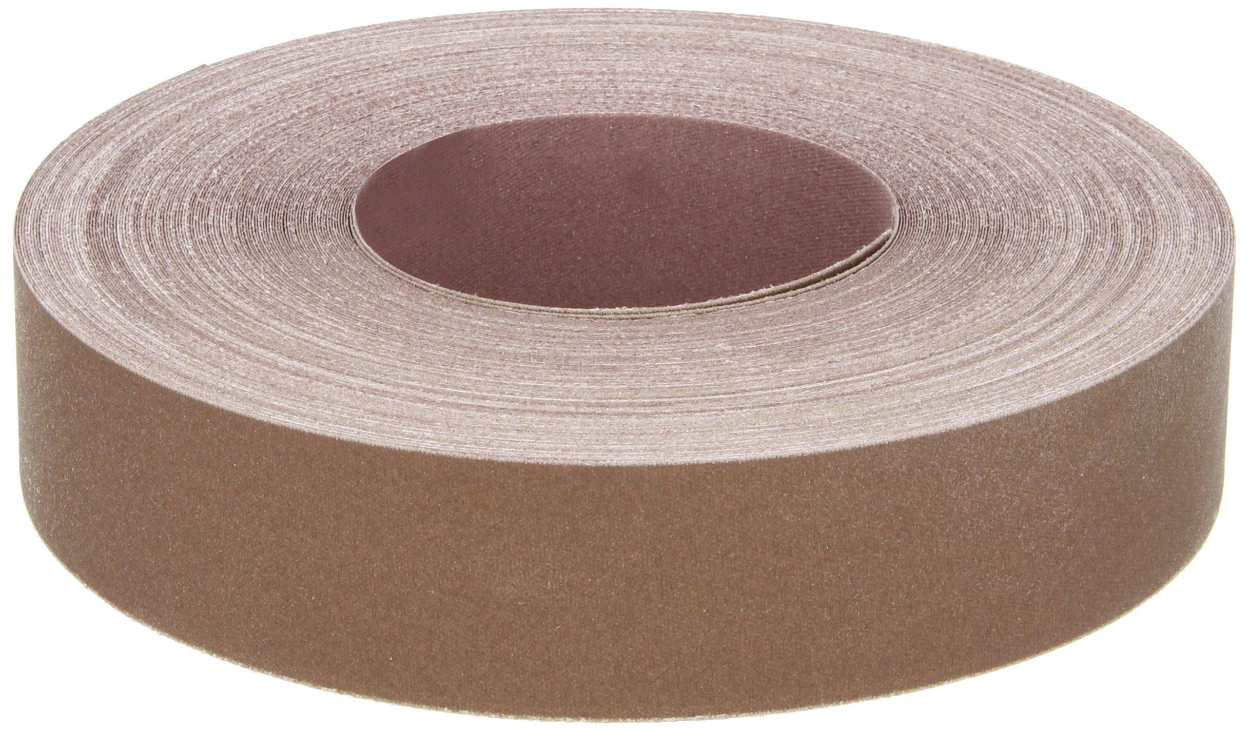 Norton K225 Metalite Abrasive Roll, Cloth Backing, Aluminum Oxide, 1-1/2'' Width x 50yd Length, Grit P400