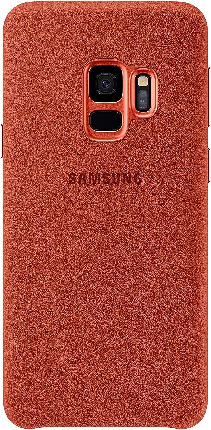 Samsung Alcantara Schutzhülle Für Galaxy S9 Rot Elektronik