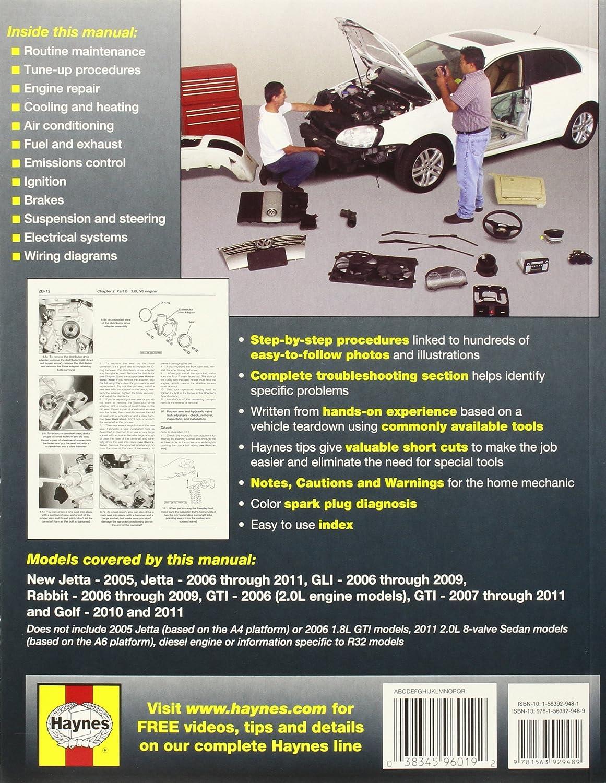 Vw Jetta Rabbit Gi Golf Automotive Repair Manual 2011 Ac Wiring 2006 Haynes