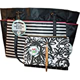 3 Pcs Bundle: me & my BIG ideas The Happy Planner Salmon Tote Bag with FREE Black Flower Design Happy Planner Snap In Pen Case and Free Laser Engraved Bamboo Pen