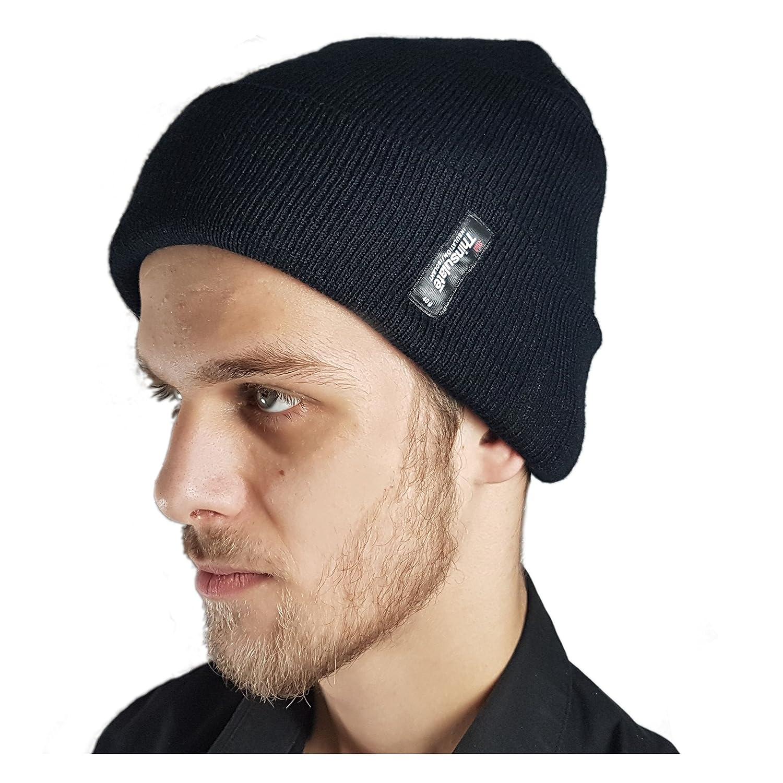 Strick Skimütze für Herren mit Thinsulate Thermofütterung Einheitsgröße (One Size, Midnight Black) 70010