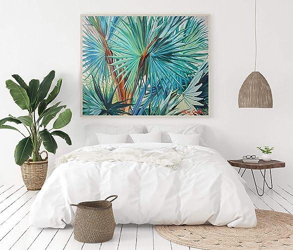 Jardin De Palmiers Impression Nature Tropicale Sauvage Colorée