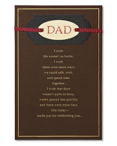 Amazon.com: American Greetings Wonderful Dad Tarjeta de ...