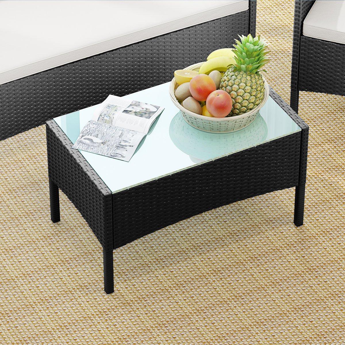 Sanmey set mobili da giardino in rattan divano indoor outdoor Set di 4/tavoli e sedie